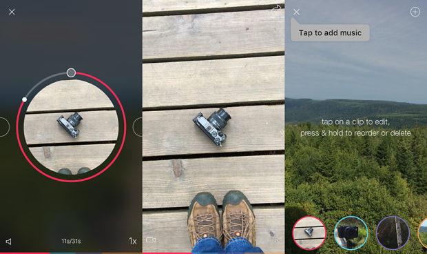 Instagram Video Stories: Aufwand und Spass sollten im richtigen Verhältnis stehen. Spark erlaubt einfache Aufnahmen, Sortierung und Schnitt der Clips.