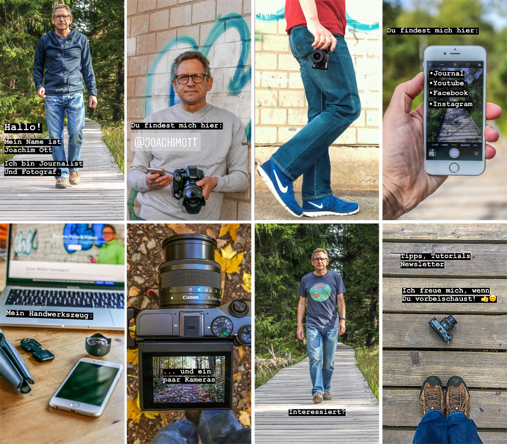 Instagram Stories Highlights: Für wichtige Themen wie die eigene Selbstdarstellung lohnt es sich schon mal, eigens für das Highlight zu fotografieren, um mit den Bildern eine Geschichte zu erzählen.