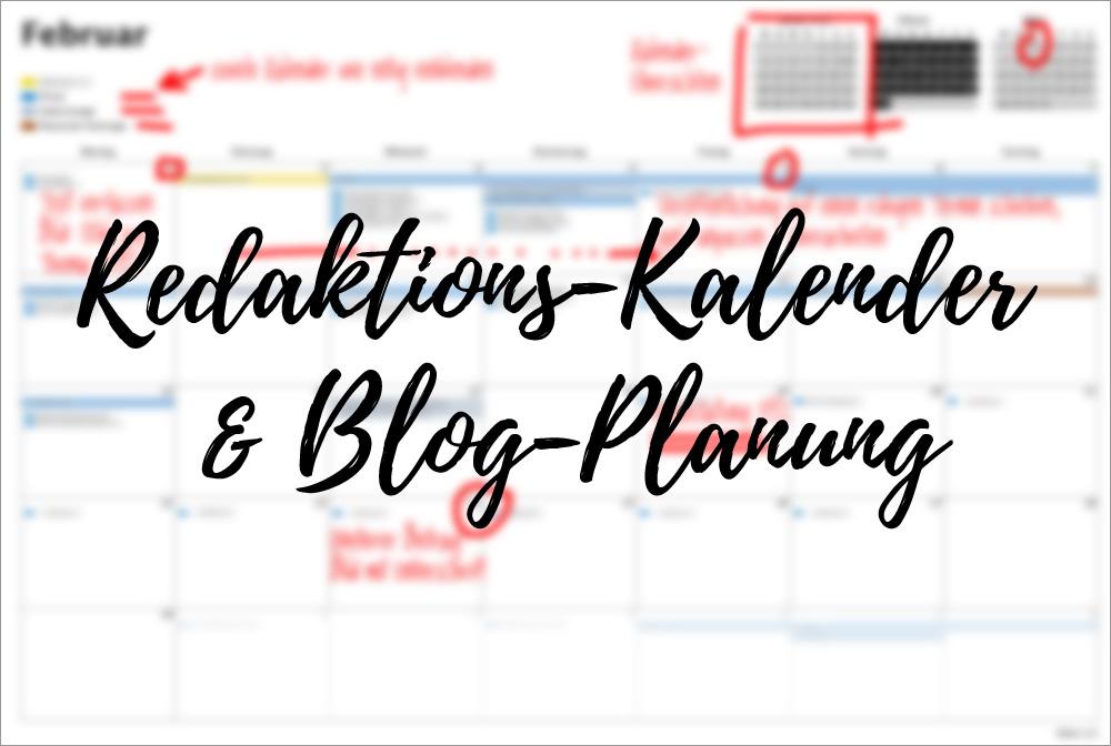 Redaktionskalender und Blog-Planung