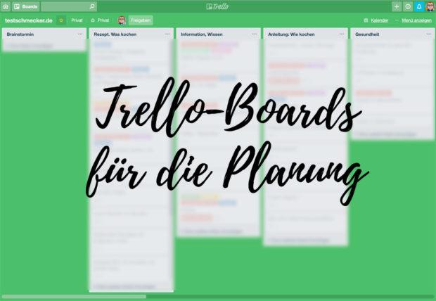 Trello ist gut für die Online-Planung und die Übersicht - auch für mehrere Mitarbeiter.