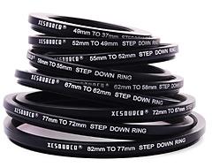 Step-up-Ringe ermöglichen die Anpassung eines großen ND-Filters an so ziemlich jeden Objektiv-Durchmesser.