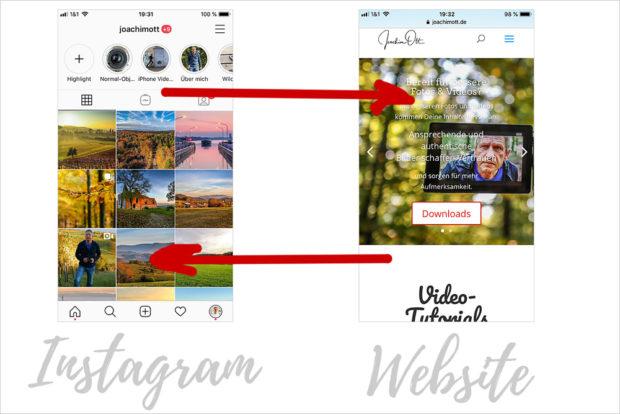 Instagram Besucher für Deine Website
