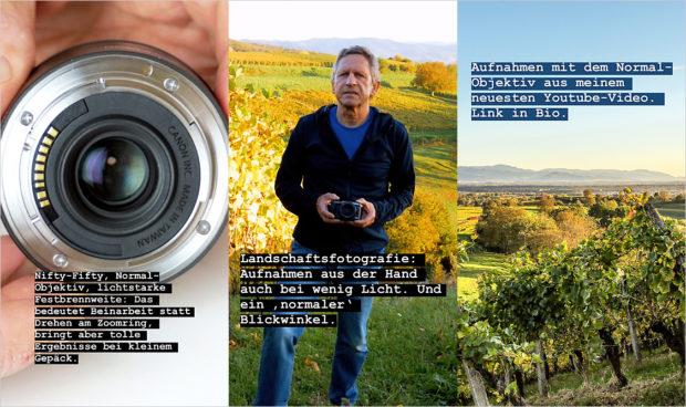 Instagram Stories mit Hinweisen, die einen Wechsel zum Blog attraktiv machen sollen.