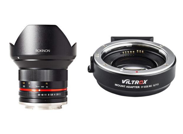 Es gibt manuelle OBjektive mit direktem Anschluss an die EOS M. Und Speed-Booster Adapter für Canon-EF-Objektive an der EOS M.