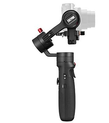 Für kleinere Kameras gibt es auch preiswertere Gimbals, wie das Zhiyun Crane M2.