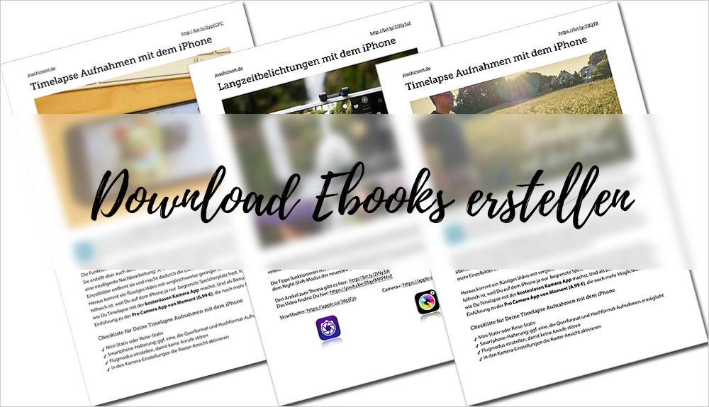 Download-Ebooks für Deine Abonnenten erstellen