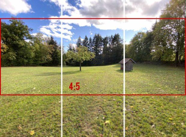 Auch die volle Ausnutzung des Screens durch das Seitenverhältnis 4:5 ist möglich beim Instagram Panorama Carousel.