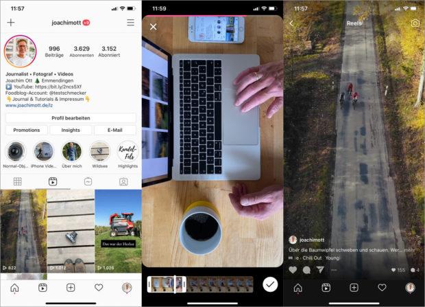 Der Aufwand mit den Mini-Video-Clips lohnt sich für Deinen Instagram Account.