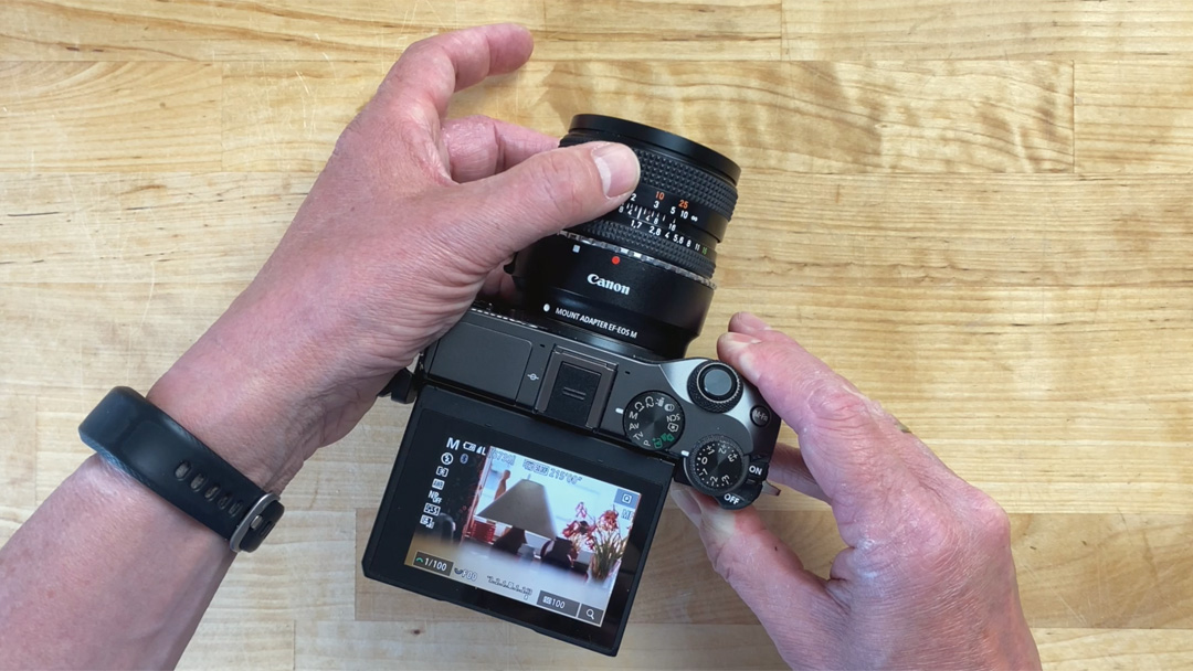 Analoge Objektive an Canon EOS M Kameras