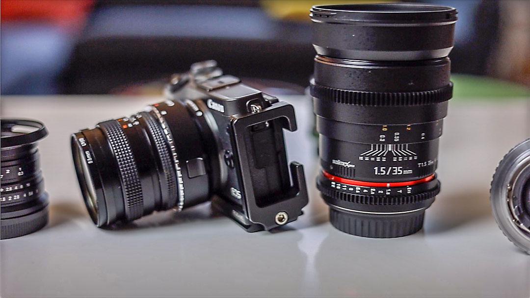 Die normale Kamera-Ausrüstung kommt ebenfalls für Hochformat-Videos zum Einsatz - als Ergänzung zu Archiv- und Smartphone-Clips.