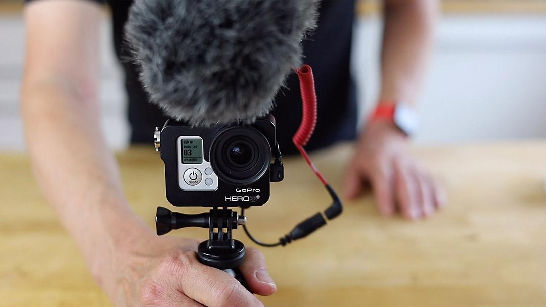 Auch eine Actiocam wie die GoPro eignet sich für Videoaufnahmen als Zweitkamera.