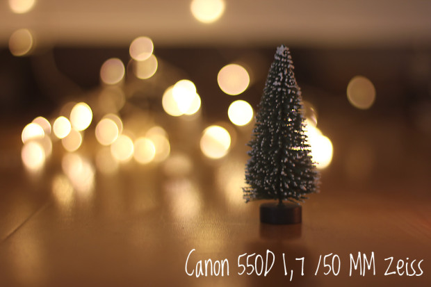 Canon 550D mit einem lichtstarken Zeiss-Objektiv