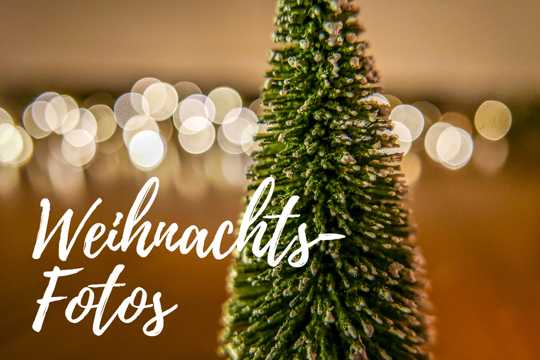 Weihnachtsfotos mit Lichtern und einem schönen Bokeh gelingen am besten bei offener Blende.