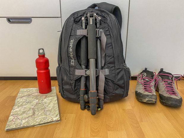 Für längere Touren fast unvermeidbar: das große Foto-Gepäck.