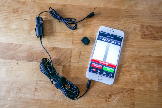 Auch Smartphone-Videos kommen durch ein externes Mikrofon zu besserer Tonqualität.
