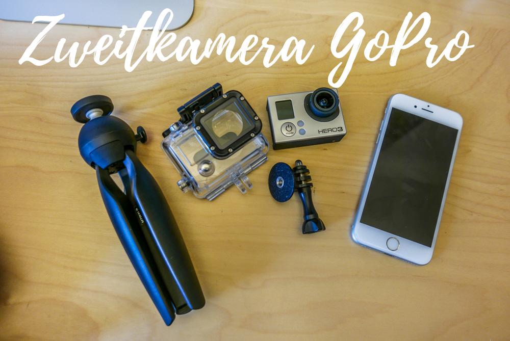 Zweitkamera: Eine sollte immer dabei sein, die GoPro (auch ein älteres Modell) bietet sich da an.