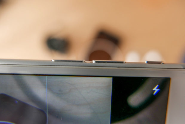Die Laut-Leise-Tasten sind zwei weitere Auslöser der Kamera.