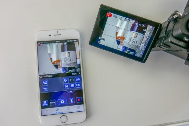 Die Panasonic App wirkt ausgereift und macht Spass.