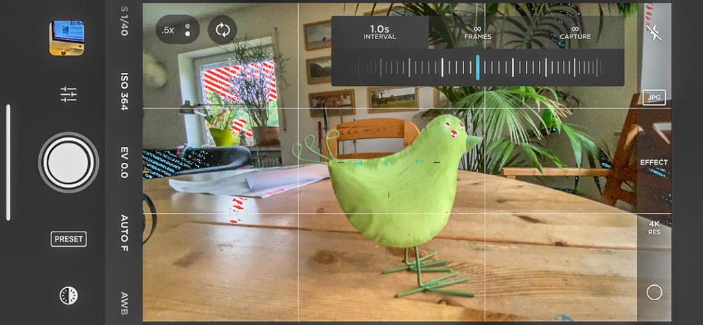 Hilfreich für Video-Aufnahmen am iPhone: Eine App für manuelle Einstellungen.