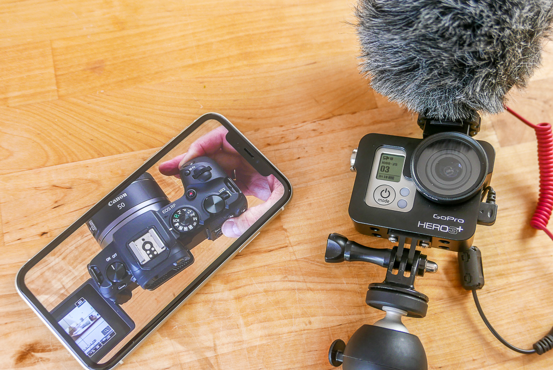 GoPro Hero 3 neben einer neuen Kamera: bei dem Duell alt gegen neu schneidet der Veteran der Actionkameras gar nicht schlecht ab.
