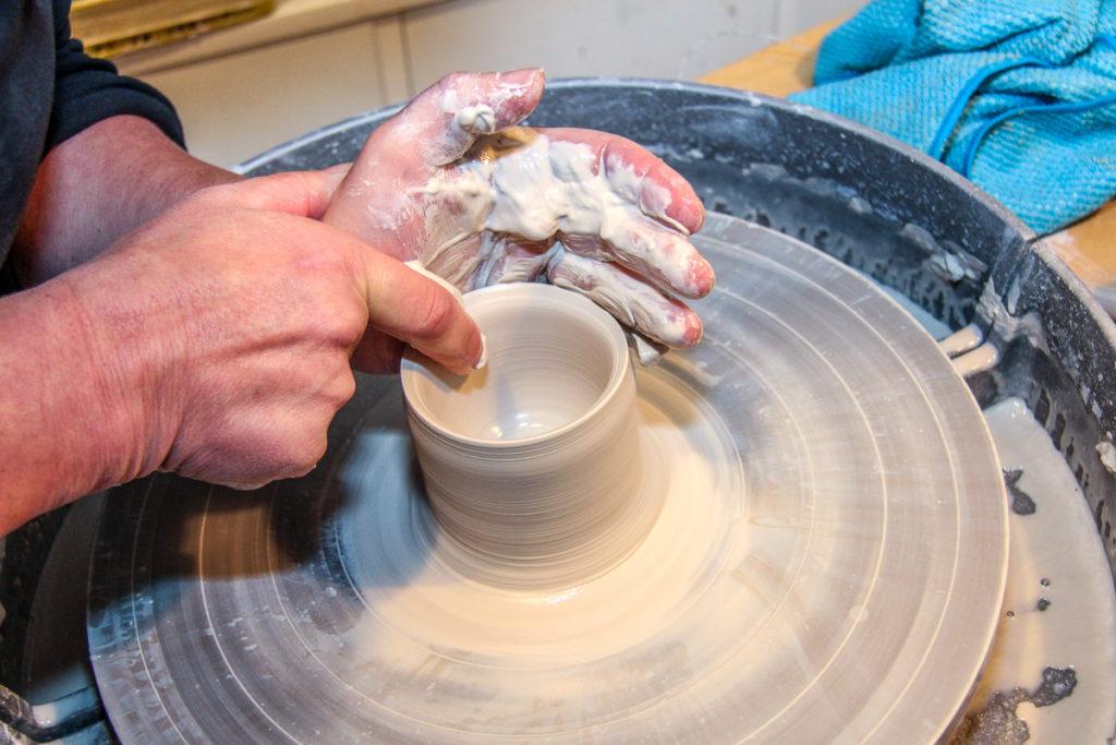 Werkstattbesuch in der Keramikwerkstatt