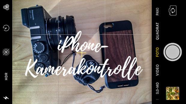iPhone-Kamerakontrolle: Die Kameraeinstellungen erlauben ähnlichen Komfort wie manche DSLR-Kamera.