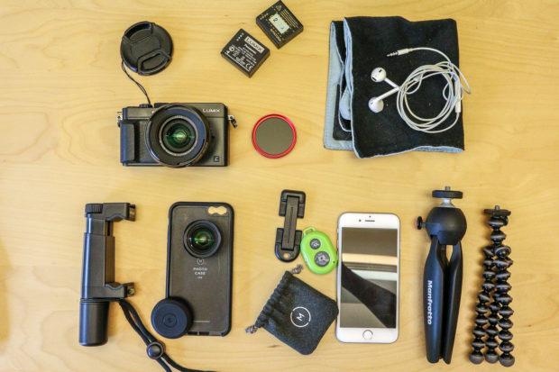 Mini-Foto-Ausrüstung.