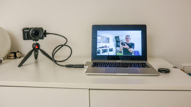 Selbst als Webcam für Zoom lassen sich die Kameras mit einem Adapter nutzen.