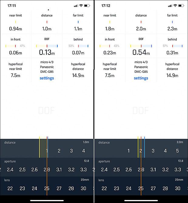Mit einer einfachen App zur Berechnung der Scärfenstiefe kannst Du erkenne, in welchem Entfernung der scharfe Bereich noch ausreichend für Deine Zwecke ist.