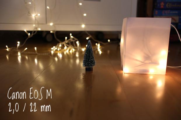 Canon EOS M mit Festbrennweite 2.0/22mm