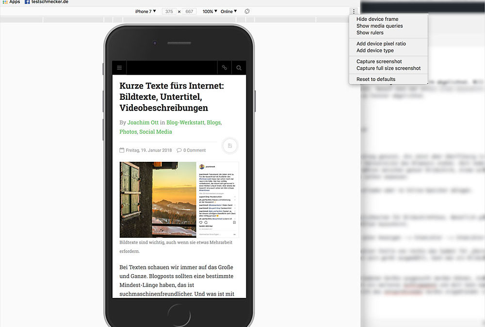 Bildschirmfotos ohne Plugins