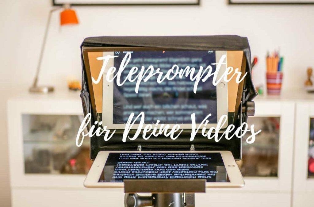 Teleprompter für Videos einsetzen