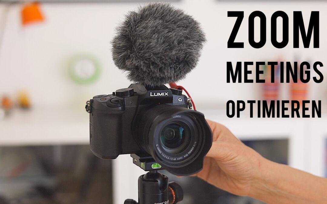 Bessere Zoom Meetings mit Licht, Ton, Kamera