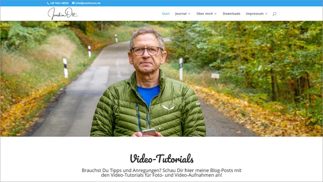 Website für Fotografen: Das Richtige zeigen