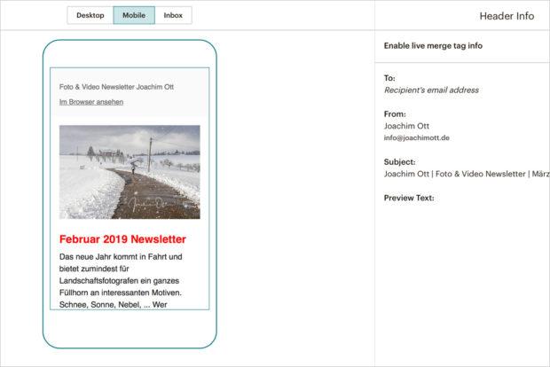 Ganz wichtig: Das responsive Design sorgt dafür, dass Dein Newsletter auch auf dem Smartphone gut aussieht.