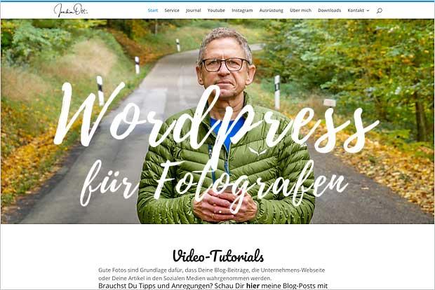 Wordpress für Fotografen - gerade für den Start eine gute Kombination.