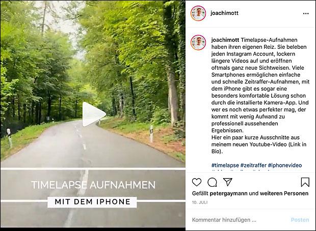 Lange Instagram-Texte können hilfreich sein - man muss aber nicht bei jedem Bild lange Texte platzieren.