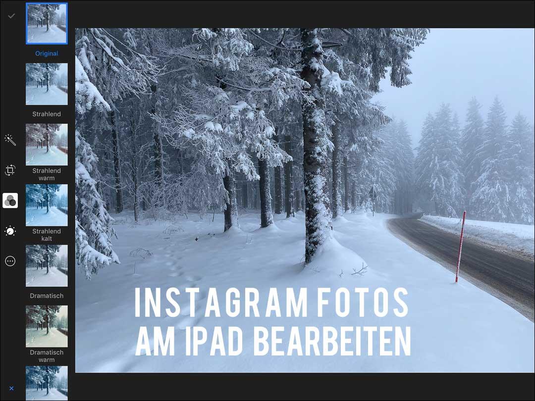 Instagram Fotos am iPad bearbeiten