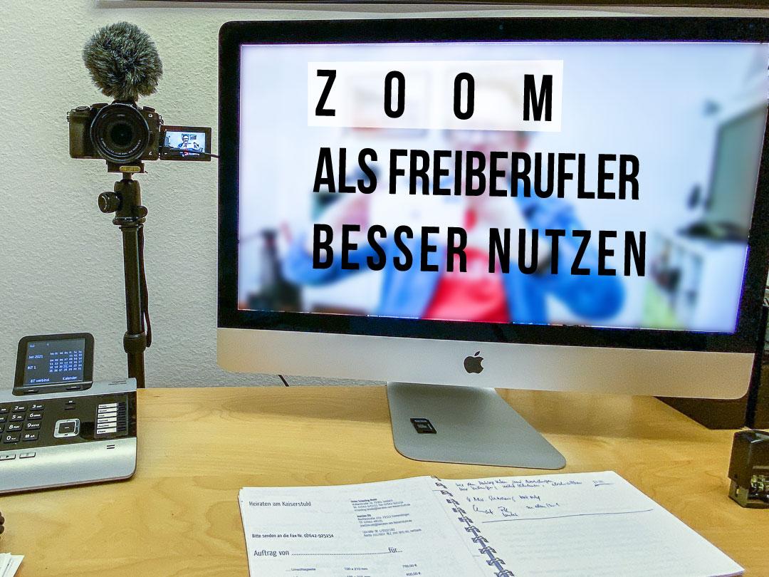 Zoom als Freiberufler besser nutzen: Da geht noch mehr als Gruppen-Meetings.
